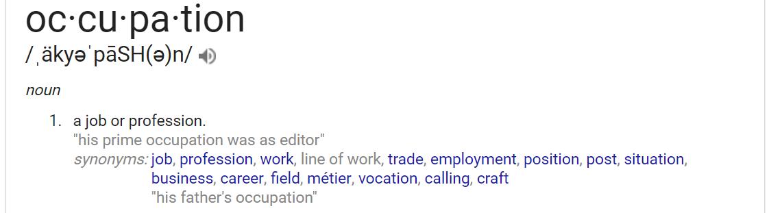 occupation definition